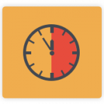 Revenue, Productivity and Forecast PMI Task Module - Clock image